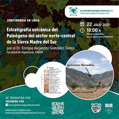 Estratigrafía volcánica del Paleógeno del sector norte-central de la Sierra Madre del Sur