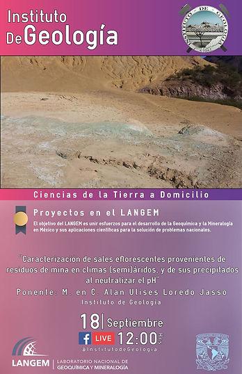 Caracterización de sales eflorescentes provenientes de residuos de mina en climas (semi)áridos, y de sus precipitados al neutralizar el pH