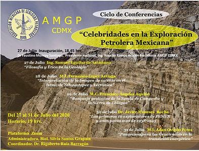 """Ciclo de Conferencias """"Celebridades en la Exploración Petrolera Mexicana"""""""