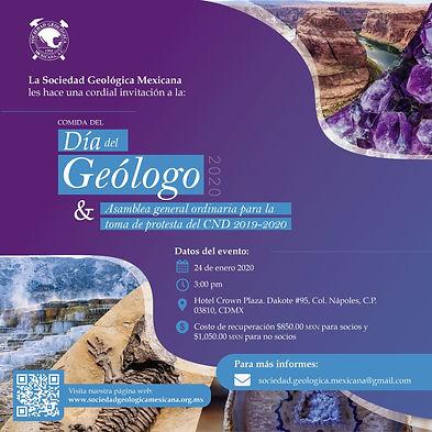Comida Día del Geólogo 2020 y Toma de Posesión