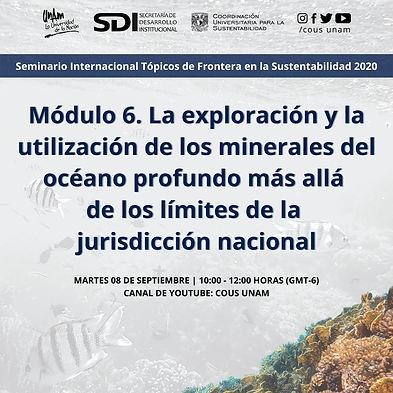 Seminario Internacional Tópicos de Frontera en la Sustentabilidad 2020.