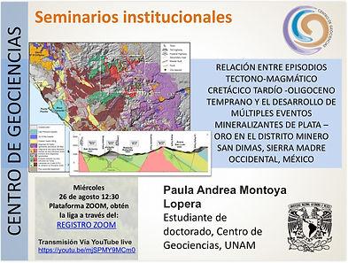 Relación entre episodios tectono-magmático cretácico tardío-oligoceno temprano y el desarrollo de múltiples eventos mineralizantes de plata-oro en el distrito minero San Dimas, Sierra Madre Occidental, México.