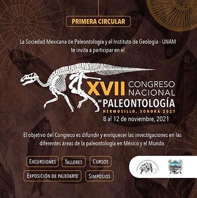 1er Circular para ser parte del XVII Congreso Nacional de Paleontología