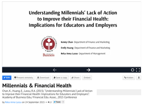 Millennials and Financial Health: our conference presentation