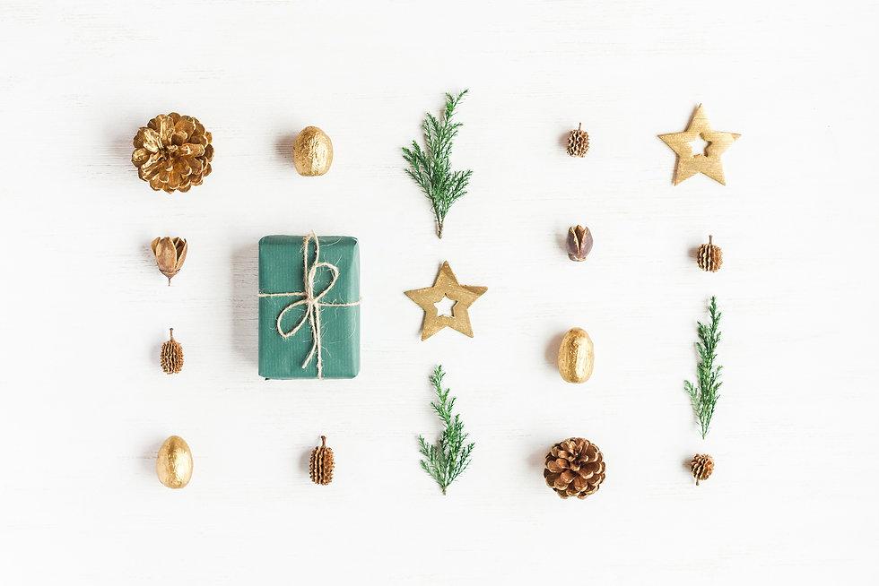 Christmas composition. Gift, christmas g