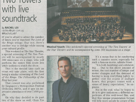 The Business Times - Watch 'The Two Towers' with live soundtrack