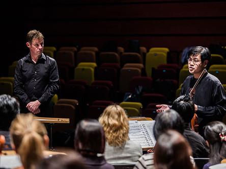 OCBC senior management take part in orchestra training