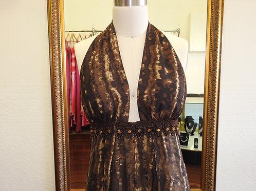 Silk print dress size 12,