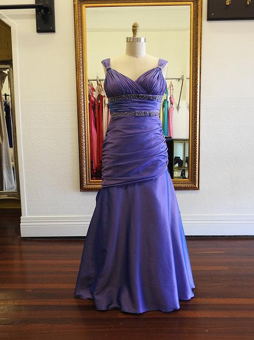 Glorious Purple taffeta dress size 12.