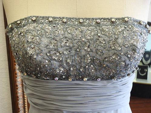 Light Gray, size 8, prom dress