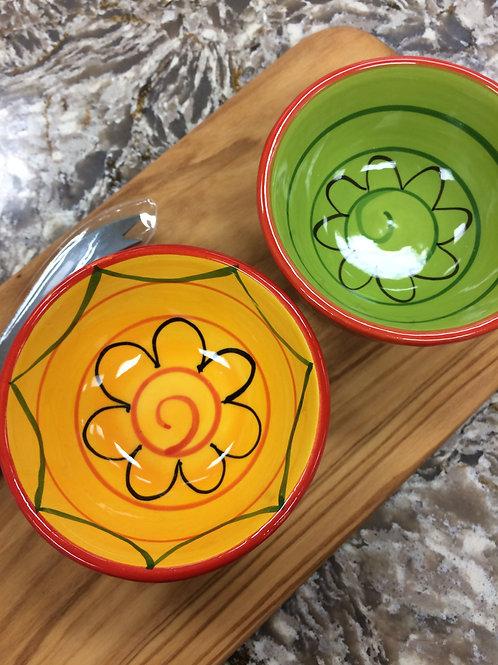 Ceramic Mediterranean Dipping Bowls