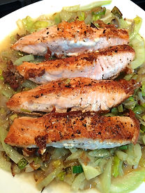 Salmon with Fennel