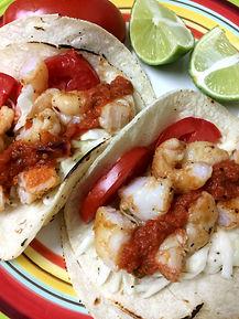 Sweet Spicy Shrimp Tacos