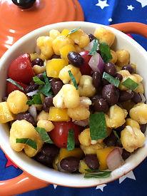 Black Bean Hominy Sald