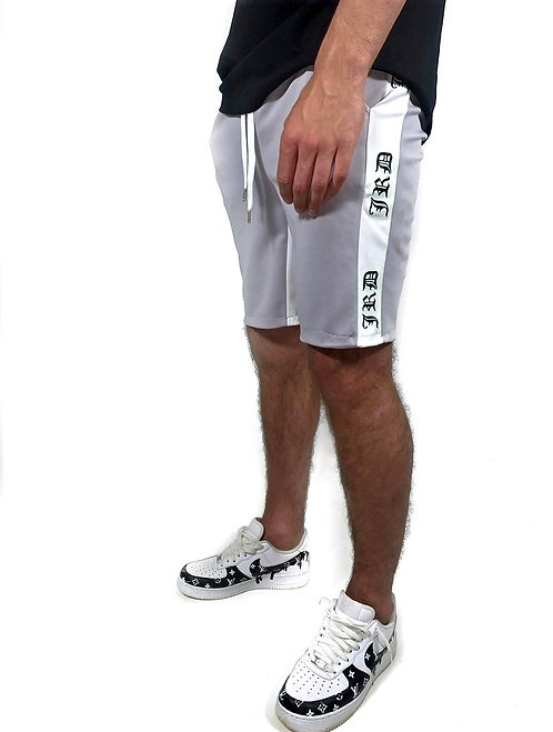 Essential Track Shorts - Grey/White