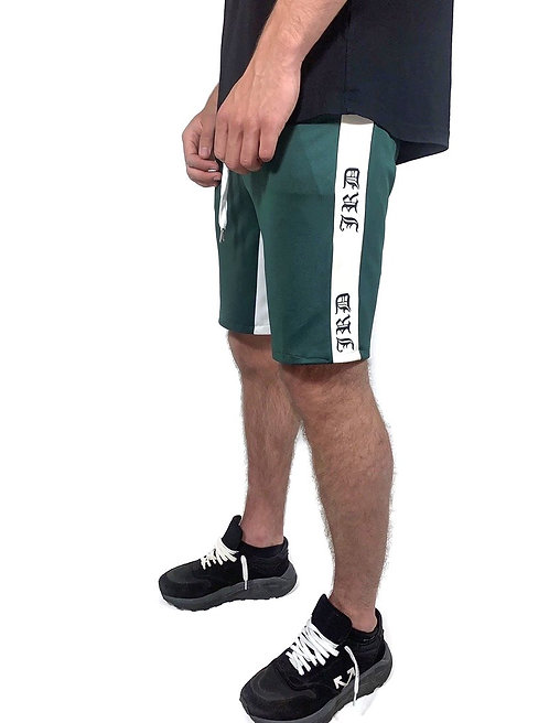 Essential Track Shorts - Bottle Green/White