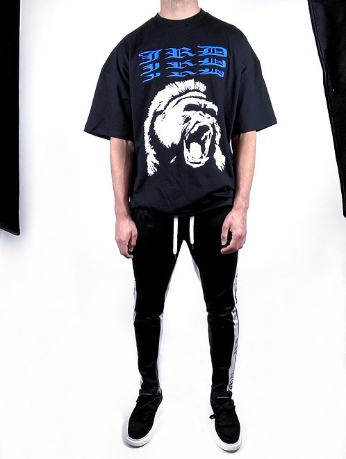Gorilla Box T-shirt - Black/Ice Blue