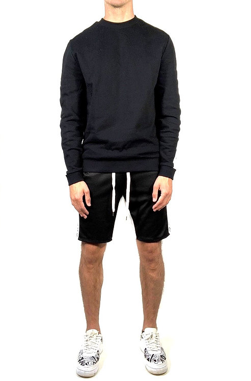 Track Sweater - Black/White
