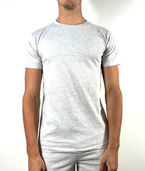 Co-ord T Shirt - Grey Marl