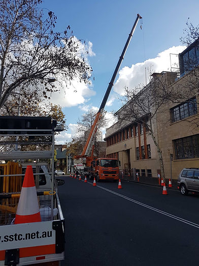 Traffic Control Sydney, Surry Hills, Botany Cranes