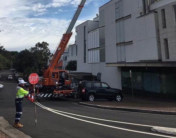 Traffic Control Sydney, Bondi, Botany Cranes