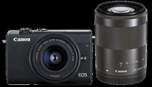 Canon EOS M200 & M14-45 + M55-200