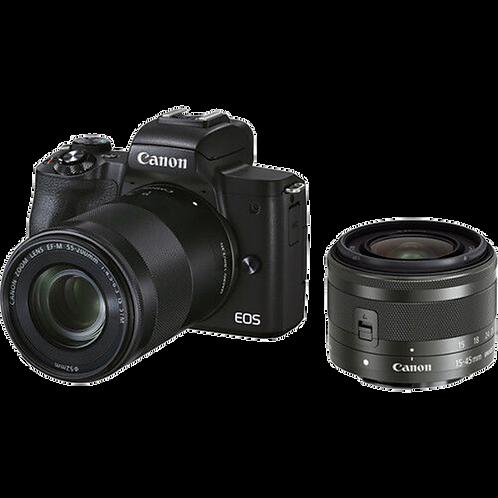 Canon EOS M50 Mark II - 15-45s + 55-200