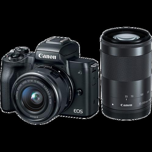 Canon EOS M50 & M15-45MM S + M55-200MM