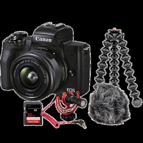 Canon EOS M50 Mark II - Vlogger Kit