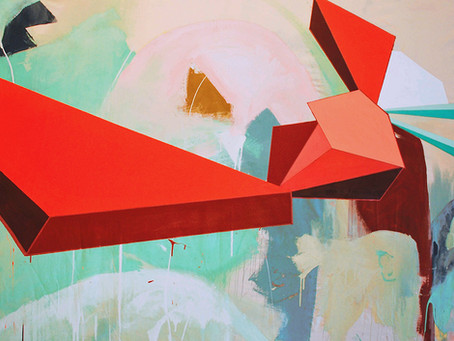 Jennifer Morgan's 'Mesonoxian Meditations' Explore Abstract Color and Subconscious Archi