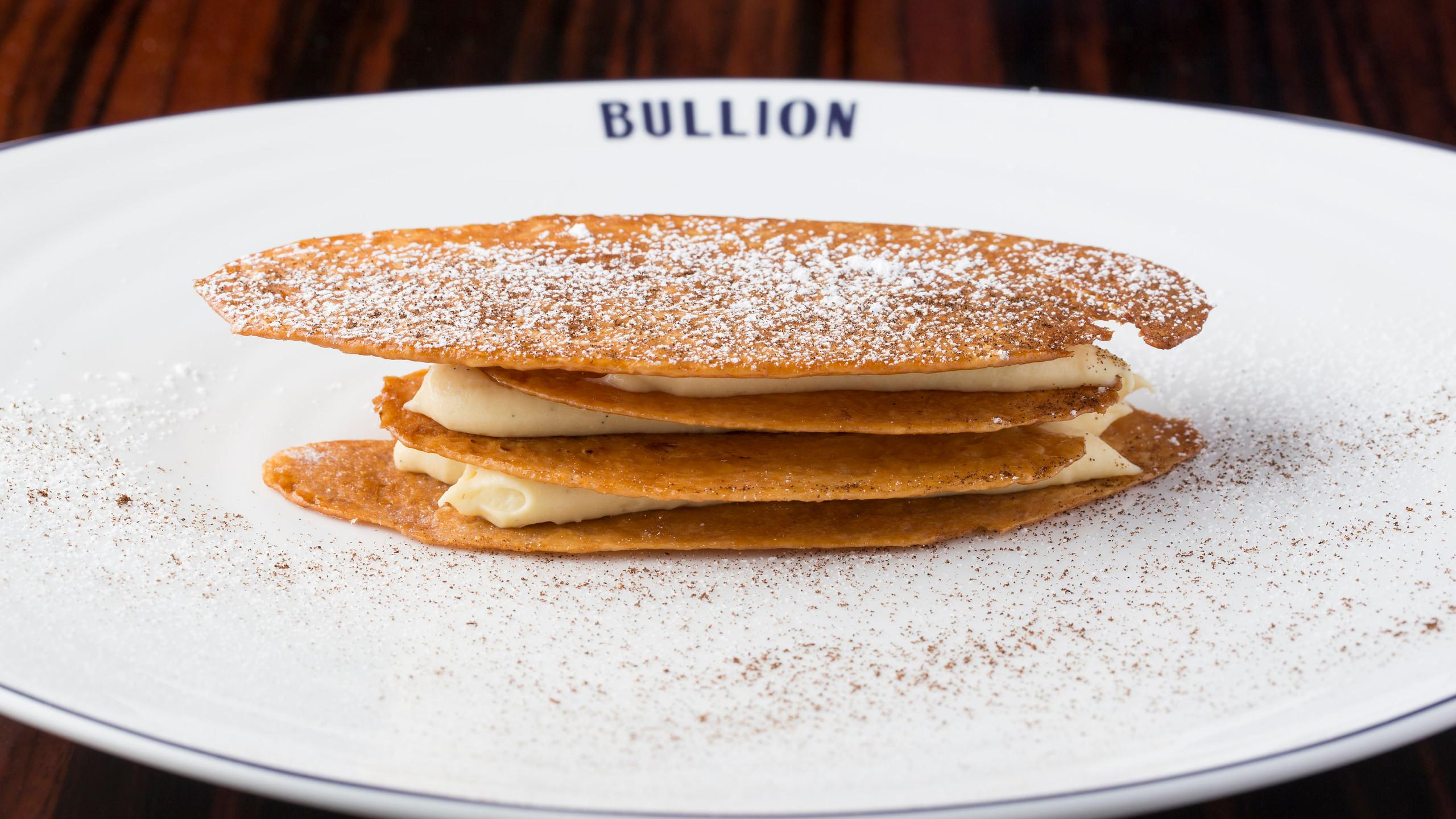 Mille Feuille (arlette puff pastry, vanilla pastry cream, dulce de leche)