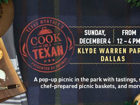 Cook Like A Texan Picnic at Klyde Warren Park