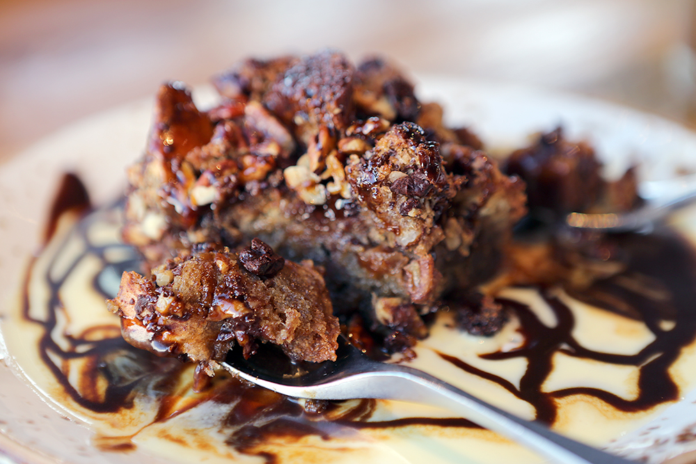 Chocolate Pecan Bread Pudding
