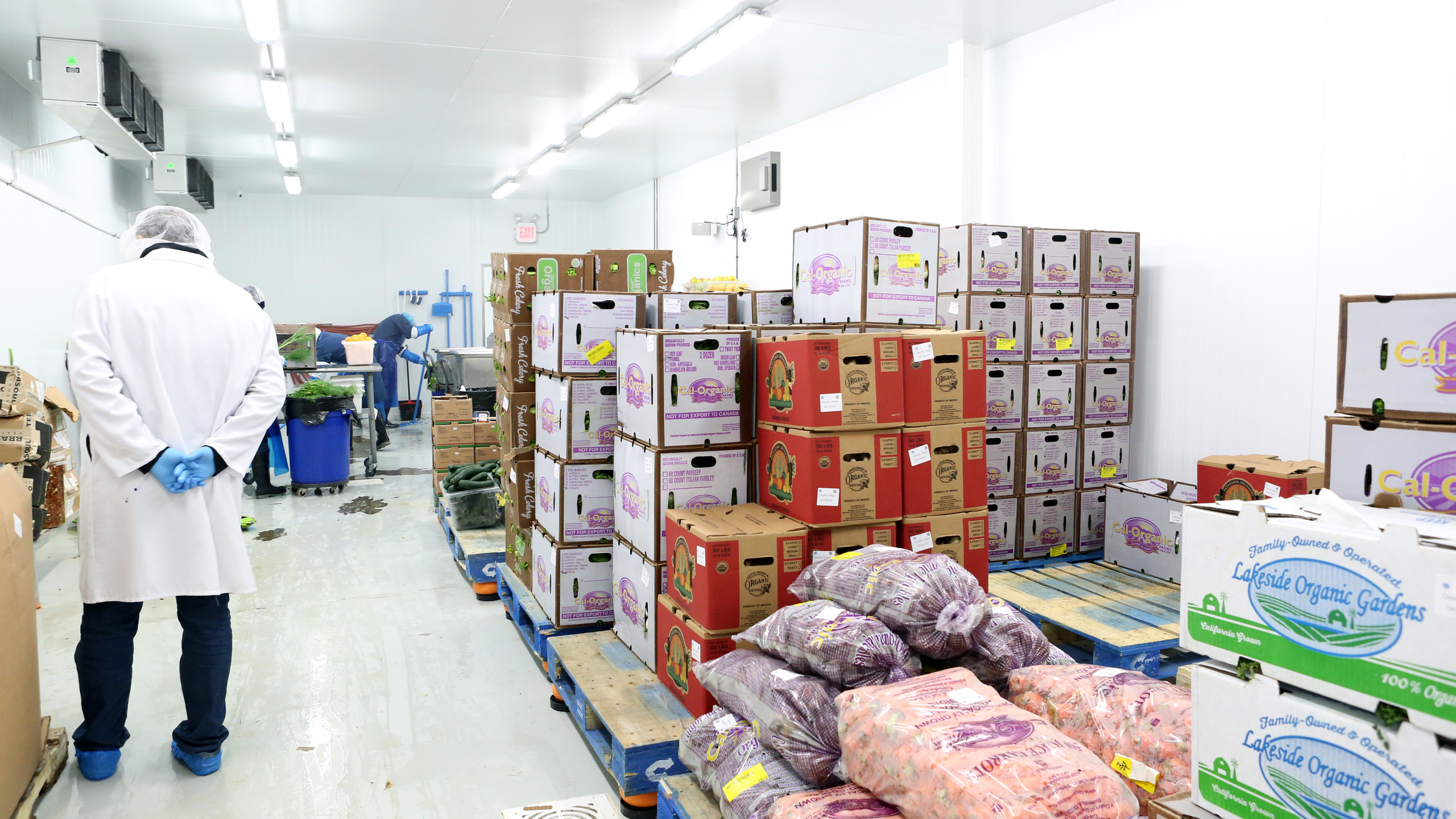 All produce is transported in refrigerated trucks from farm to kitchen