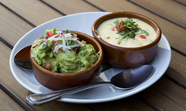 Guacamole and queso