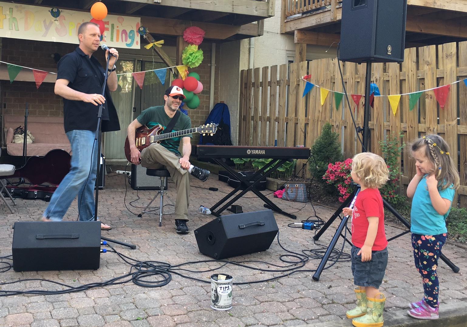 Mini fans of resident musicians!