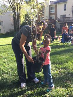 Look, Mom!  I won a tree!!