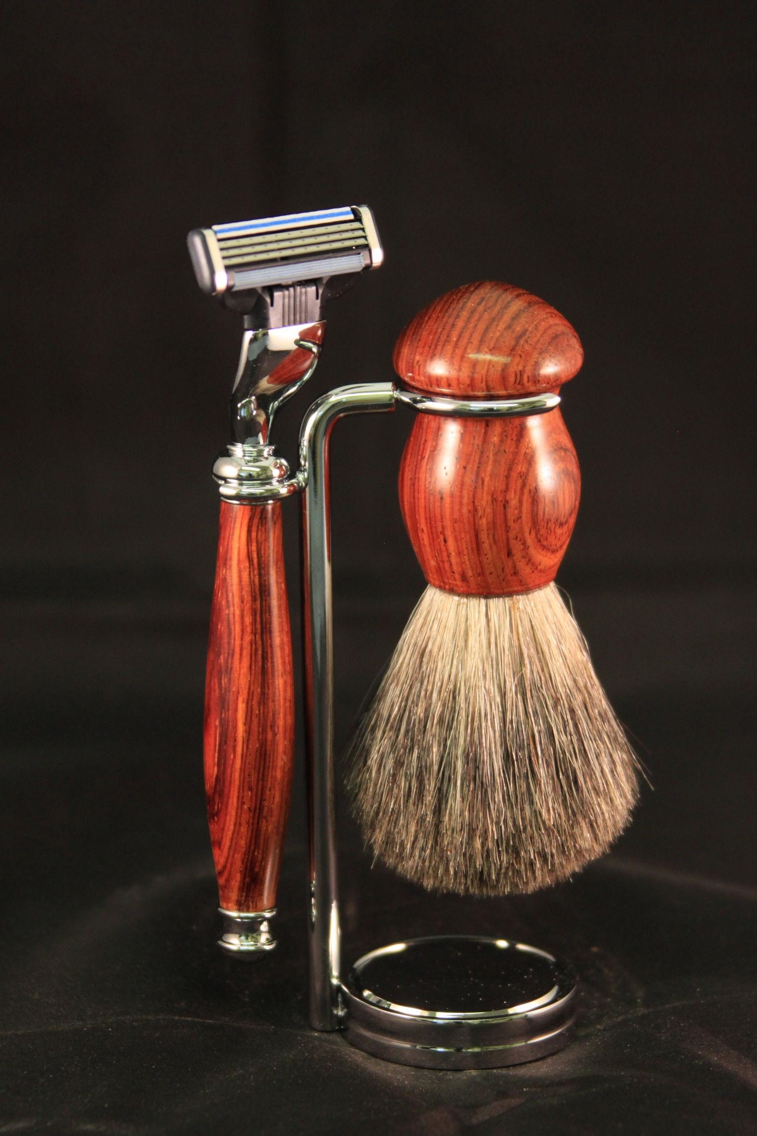 Shaving Kit in Cocobolo