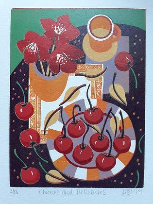 Cherries and Hellebores
