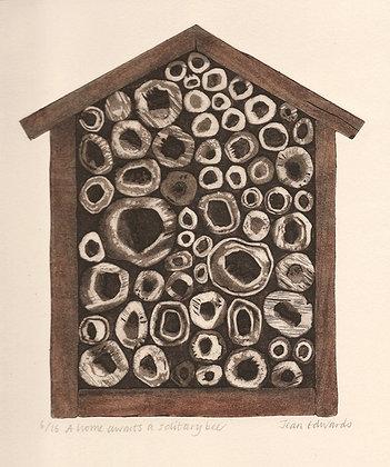 A home awaits a solitary bee