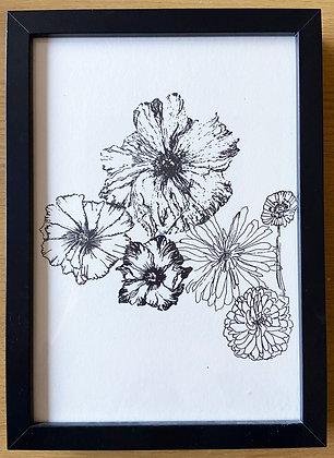 Floral Monoprint on paper