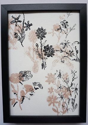 Napkin print on paper