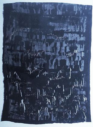 Black velvet devore print with stitch