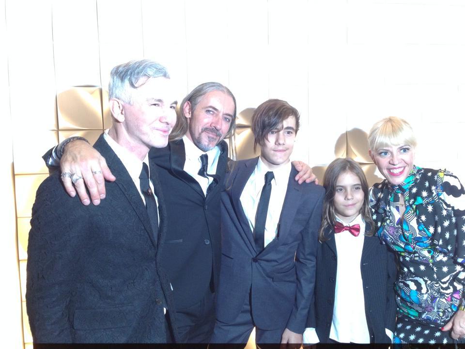 Baz, Fernando, Xavier, Jordan & Cathrine, Strictly Ballroom Opening night 2 April 2014