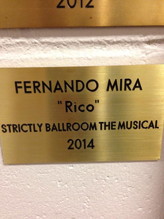 Dressing room plaque at Her Majesty's Theatre Melbourne Australia 2015