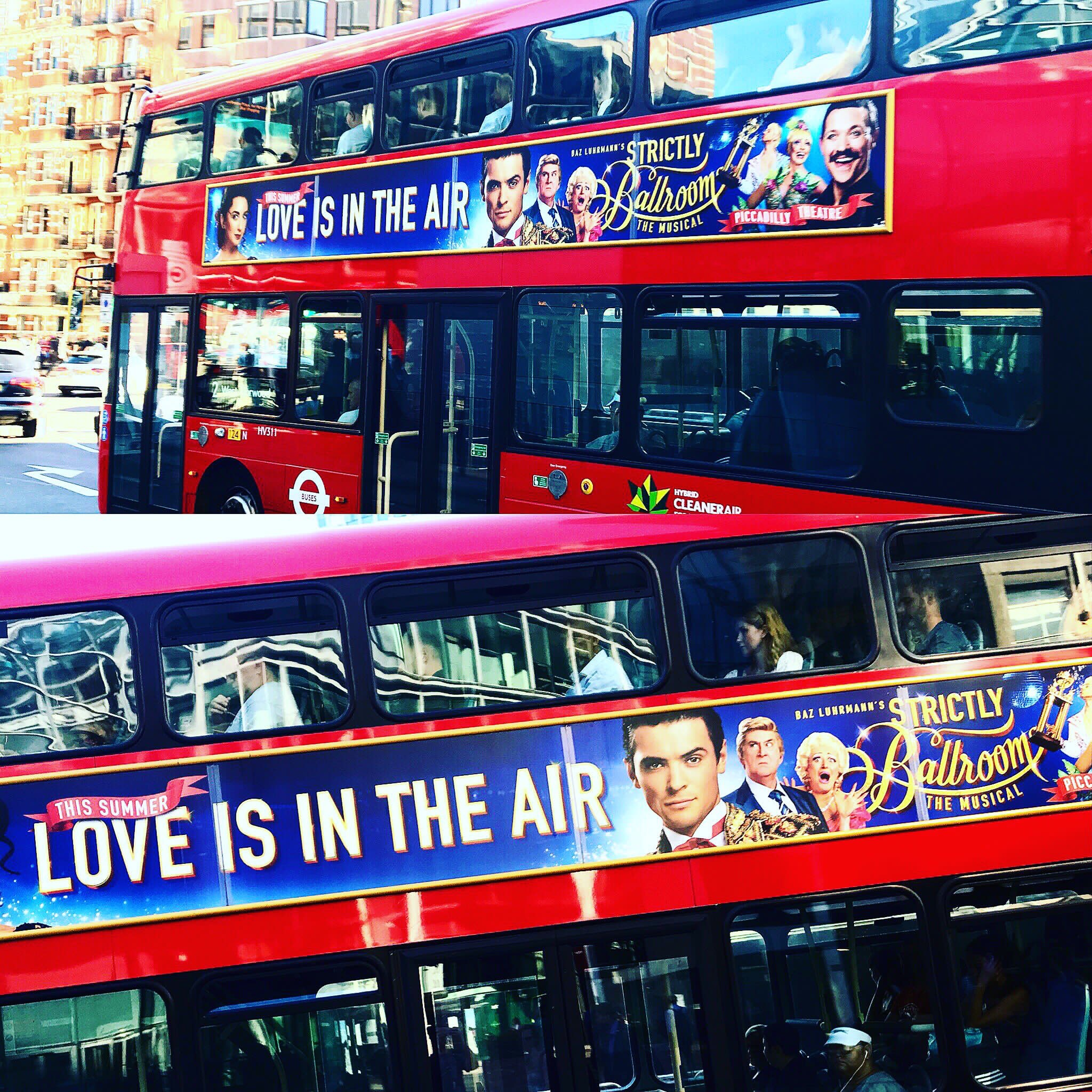 Strictly Ballroom adverts on Londons buses 2018