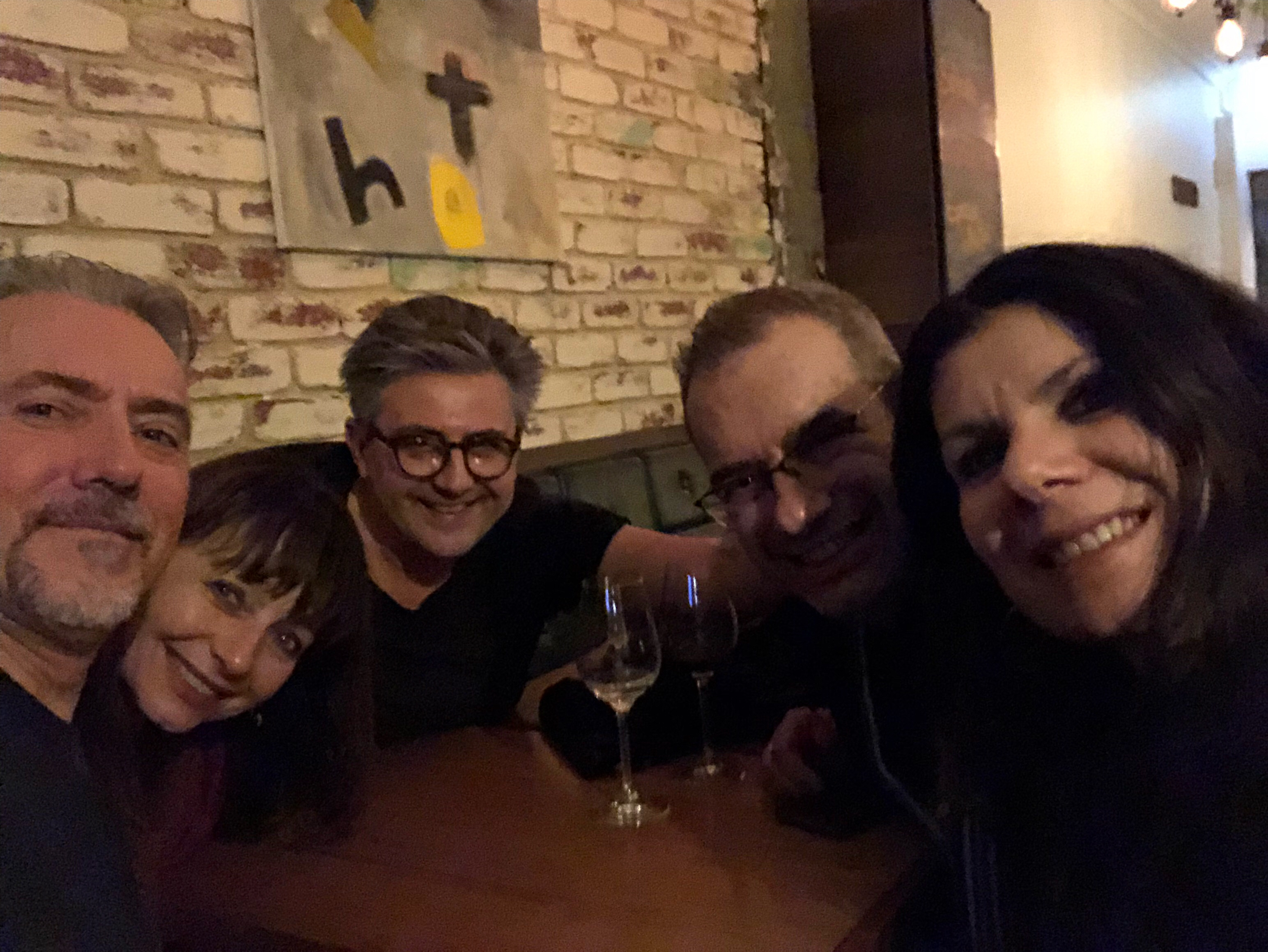 After show catch up at Chatos