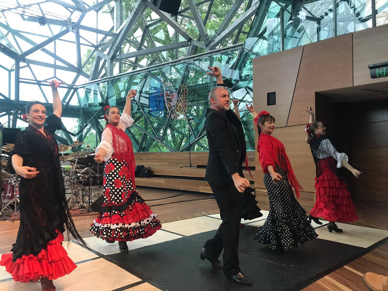 Show with Laura, Matt Fagan and group at Deakin Edge Melbourne 2019