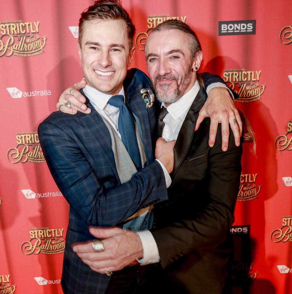 Rowan Brown & Fernando at the opening of Strictly Ballroom
