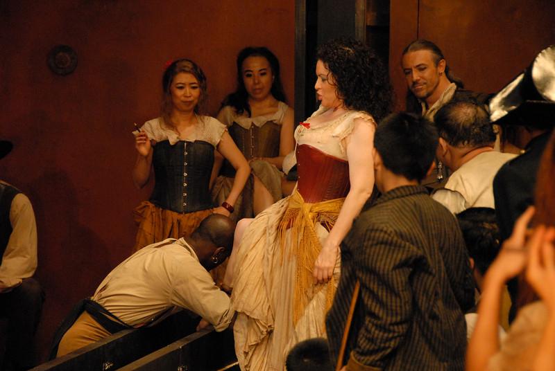 On the set of Carmen Opera Australia in Taipei 2009